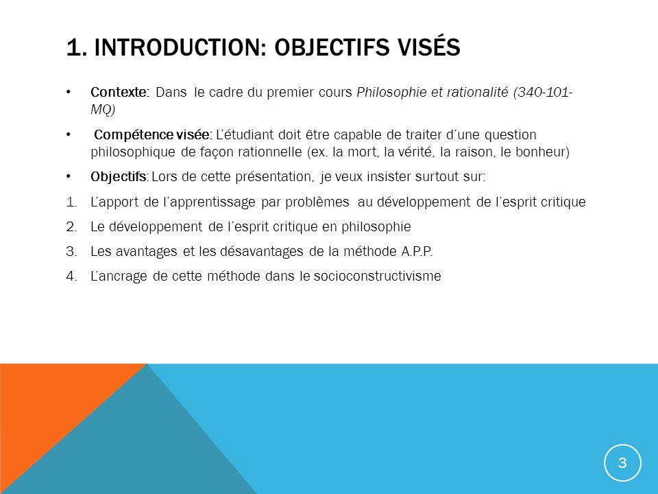 1. Introduction: OBJECTIFS VISÉS