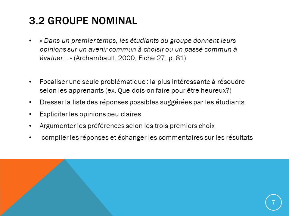 3.2 Groupe Nominal
