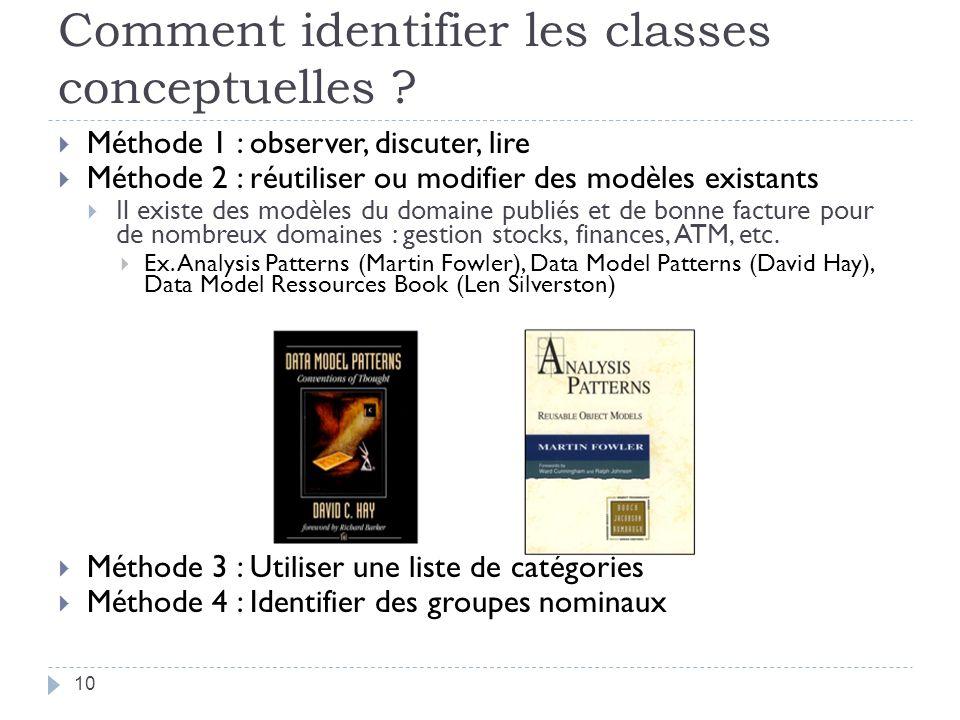 Comment identifier les classes conceptuelles