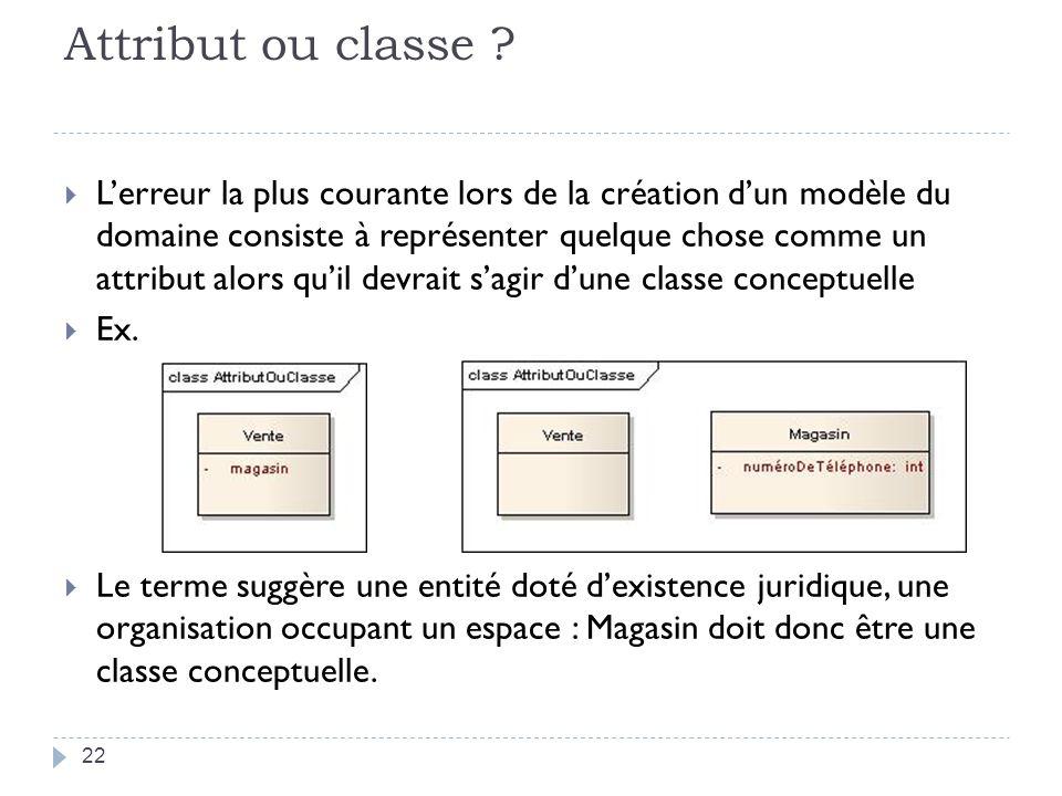 Attribut ou classe