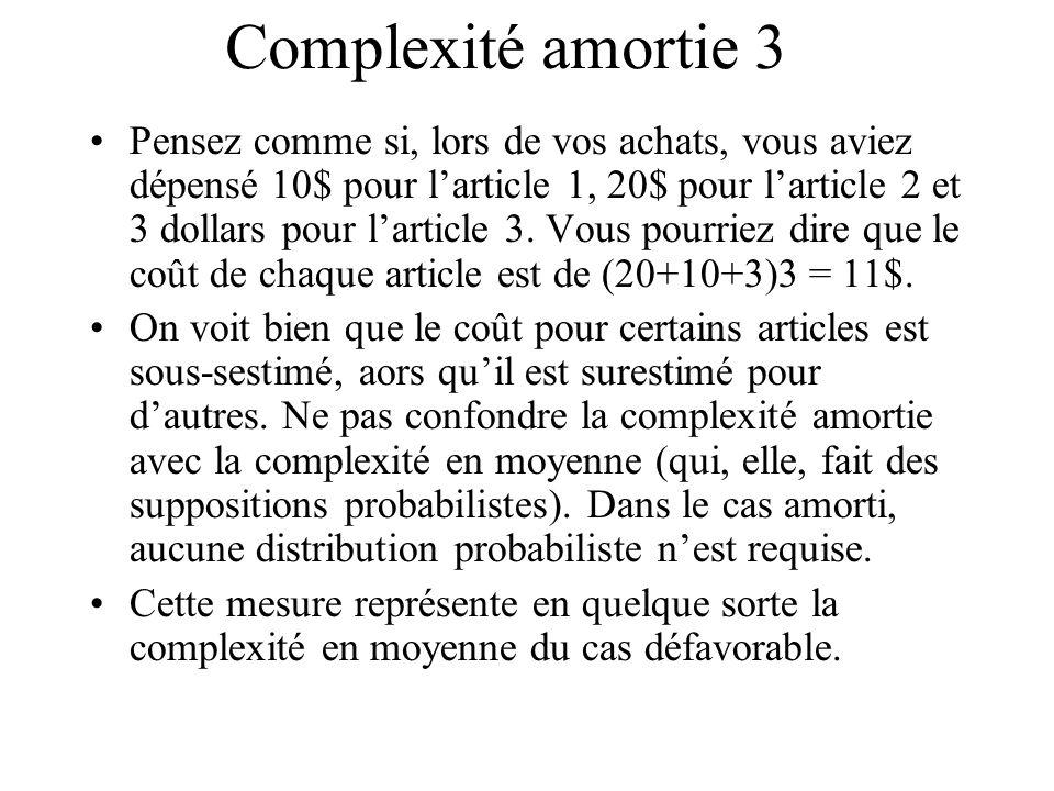 Complexité amortie 3