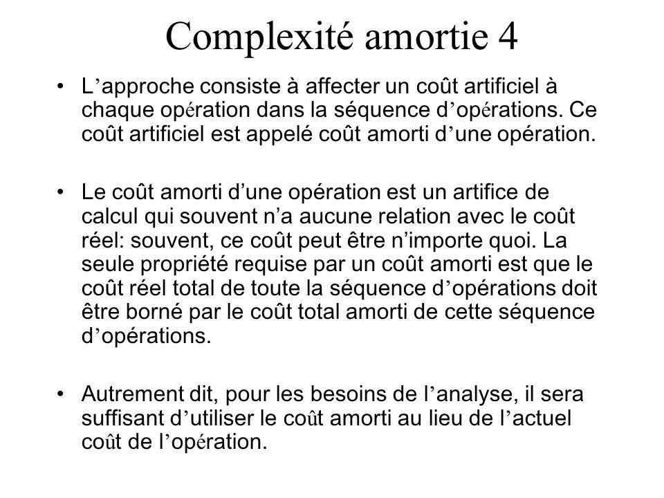 Complexité amortie 4