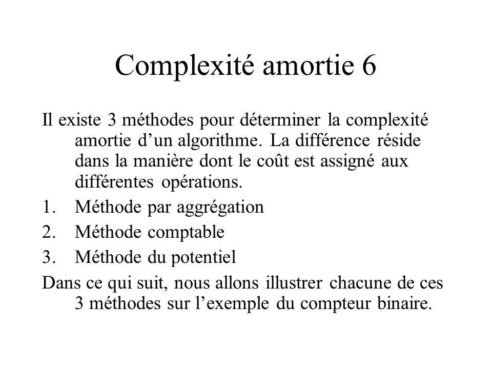 Complexité amortie 6