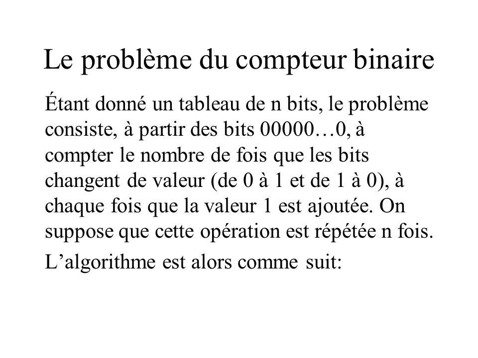 Le problème du compteur binaire