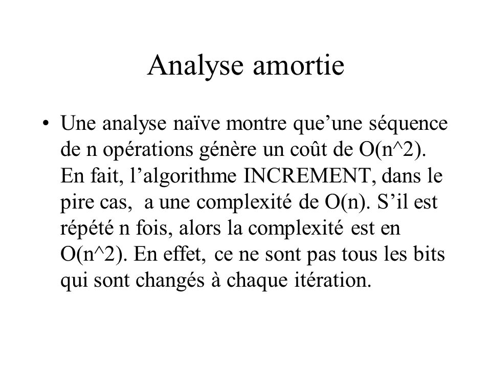 Analyse amortie