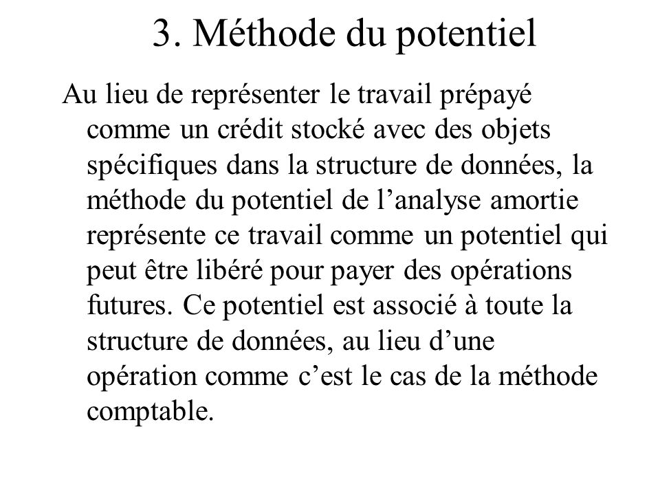 3. Méthode du potentiel