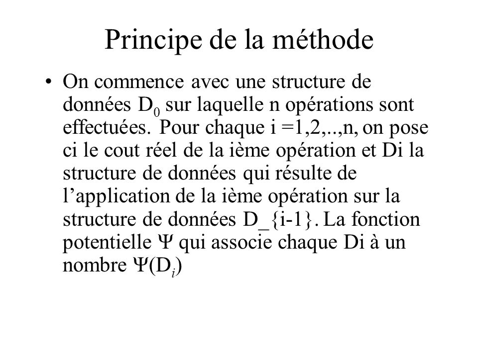 Principe de la méthode