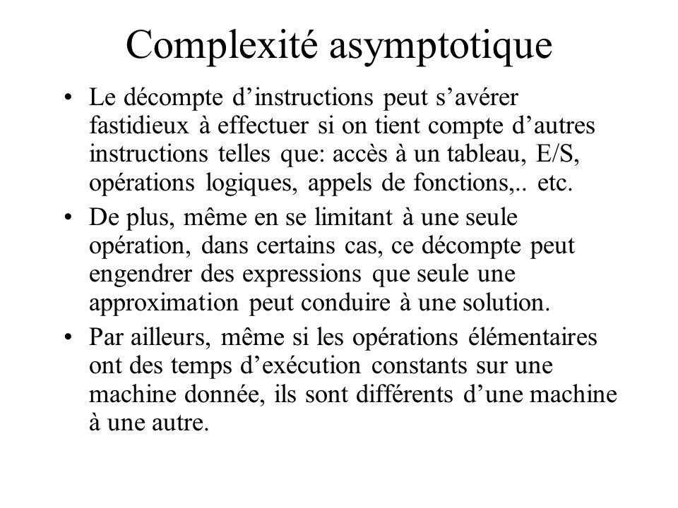 Complexité asymptotique