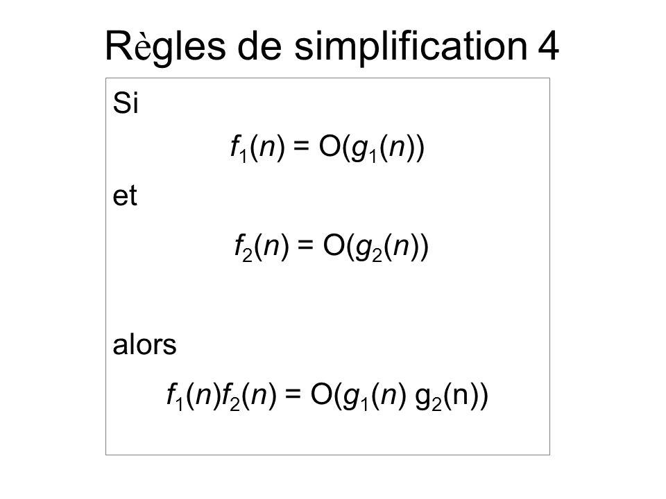 Règles de simplification 4