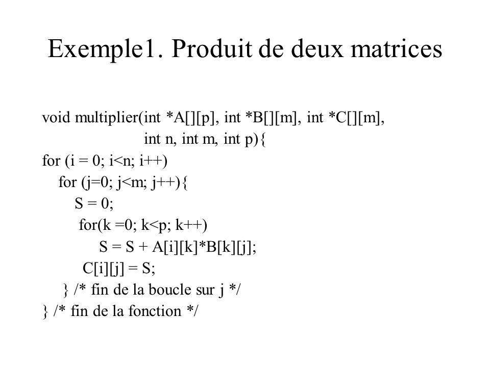 Exemple1. Produit de deux matrices