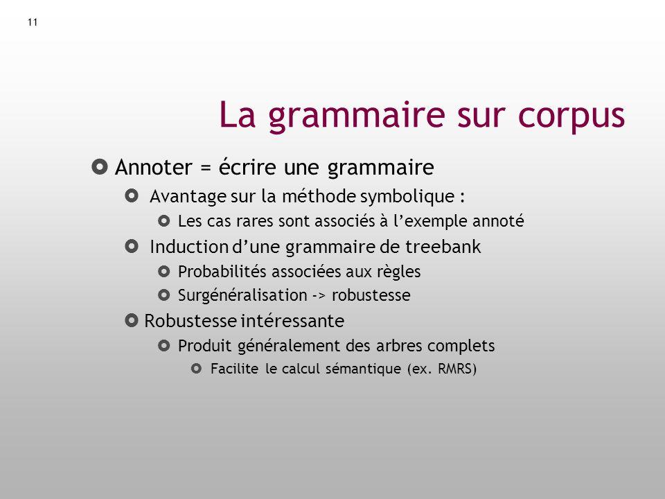 La grammaire sur corpus