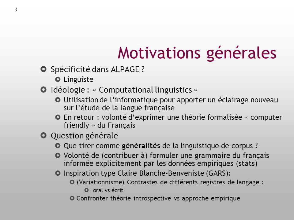 Motivations générales