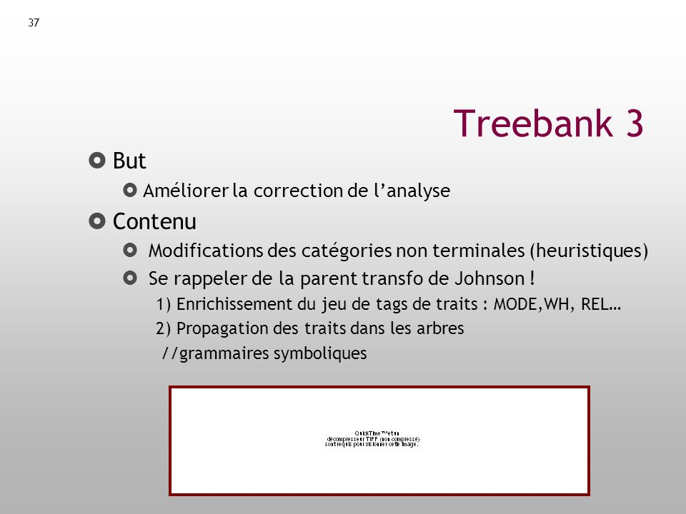 Treebank 3 But Contenu Améliorer la correction de l'analyse