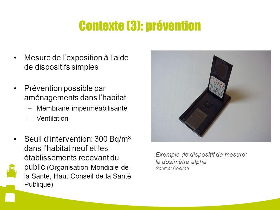 Contexte (3): prévention