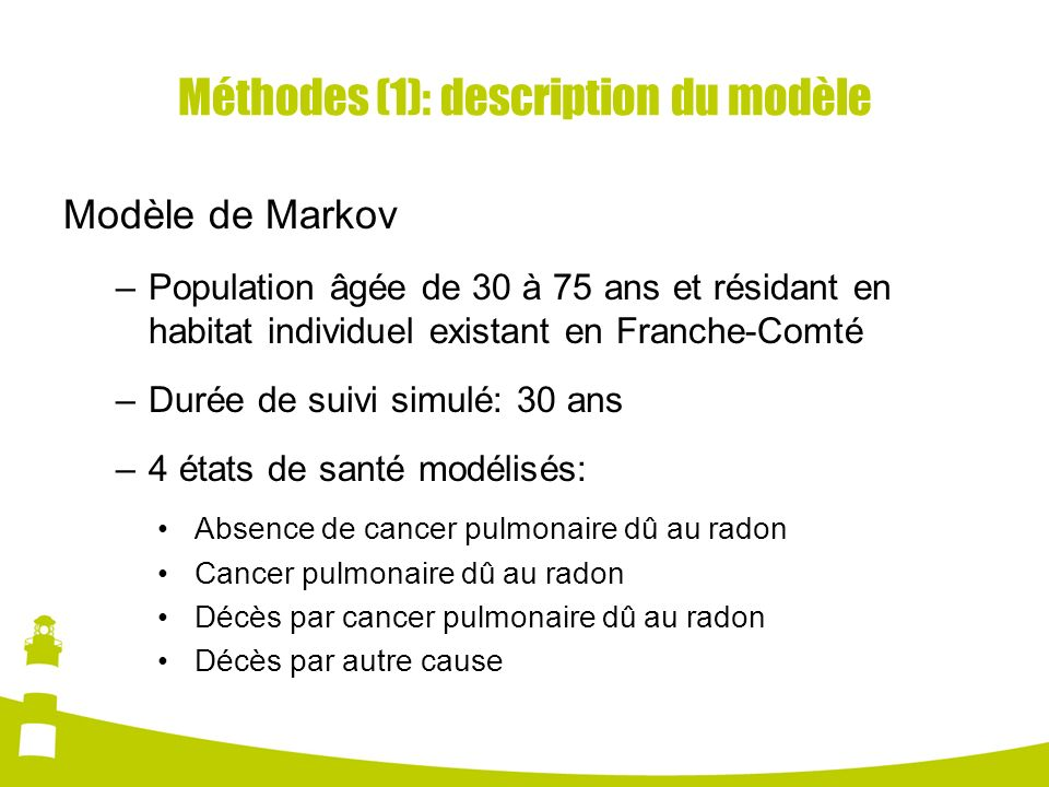Méthodes (1): description du modèle