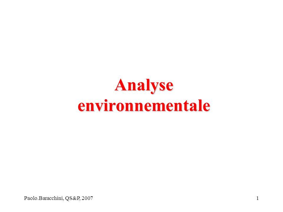 Analyse environnementale
