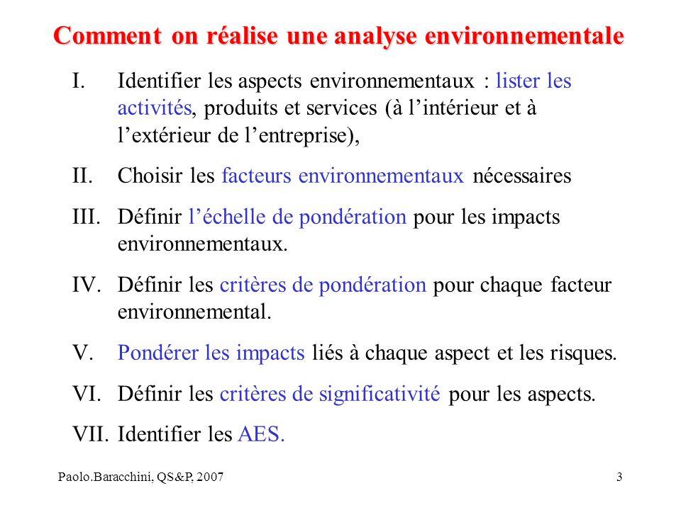 Comment on réalise une analyse environnementale