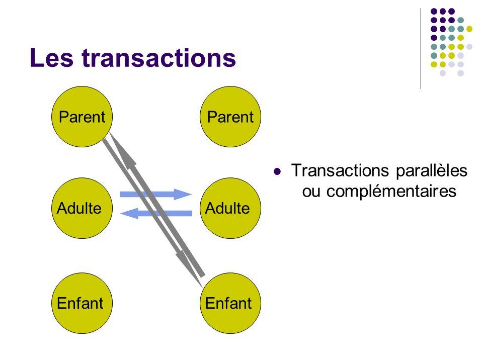 Transactions parallèles ou complémentaires