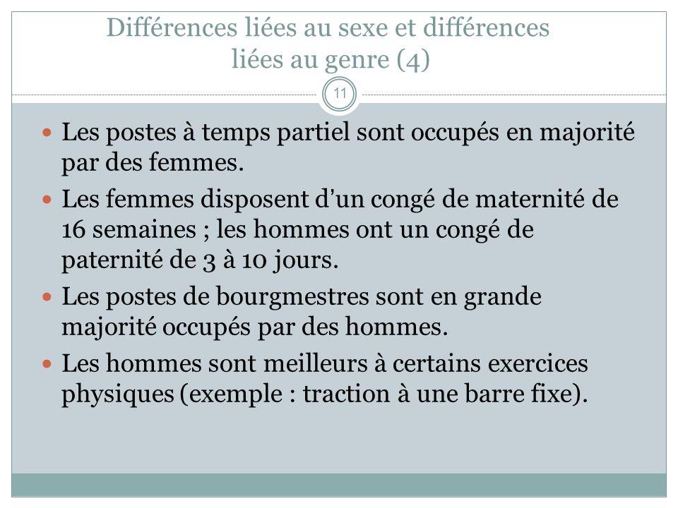 Différences liées au sexe et différences liées au genre (4)