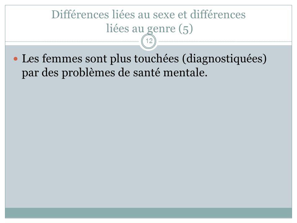 Différences liées au sexe et différences liées au genre (5)