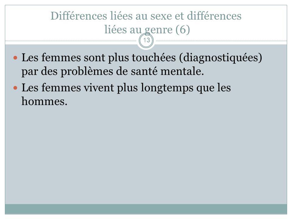 Différences liées au sexe et différences liées au genre (6)