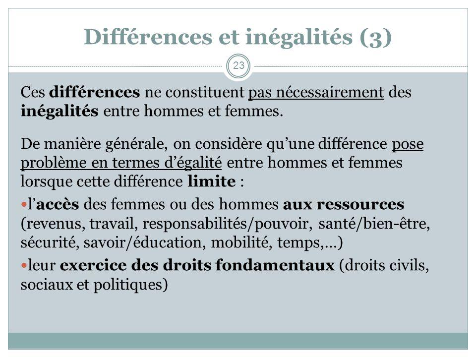 Différences et inégalités (3)