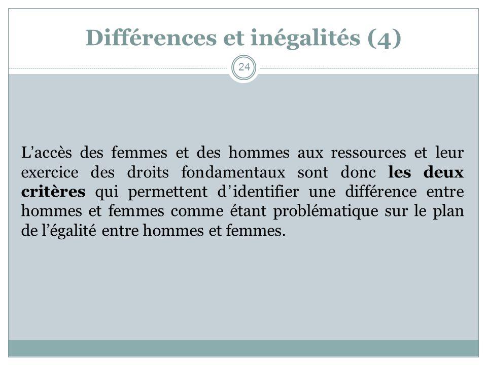 Différences et inégalités (4)