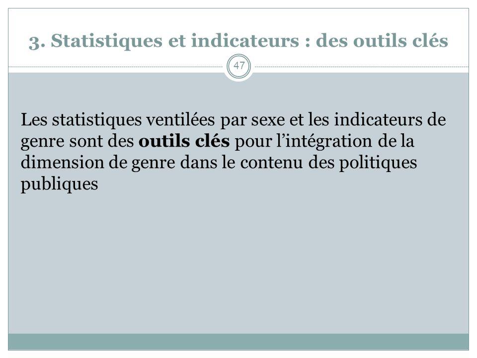 3. Statistiques et indicateurs : des outils clés