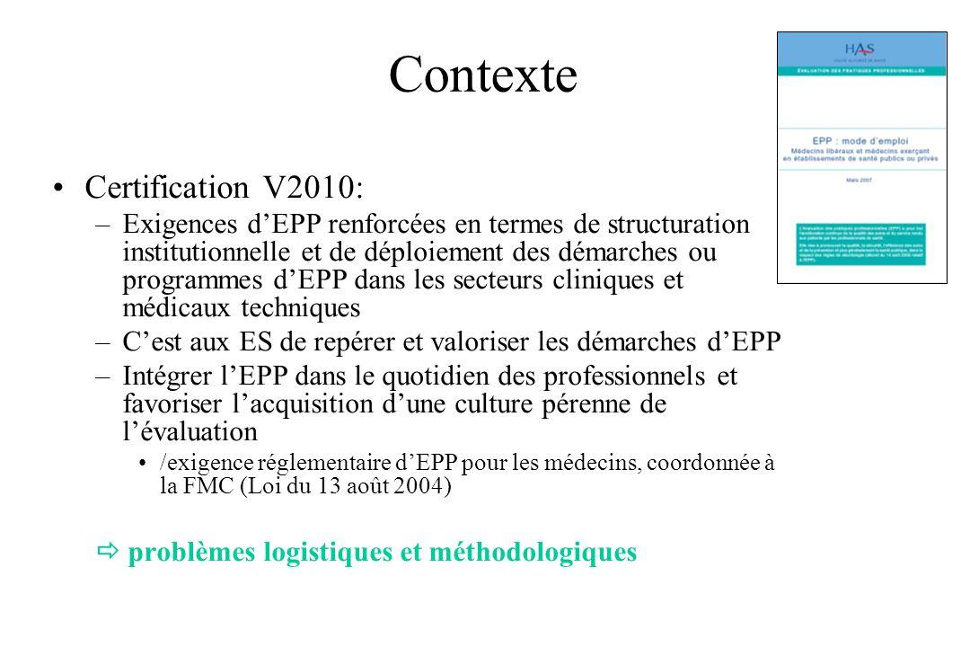 Contexte Certification V2010: