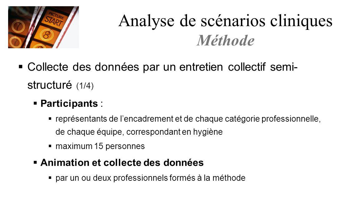 Analyse de scénarios cliniques Méthode