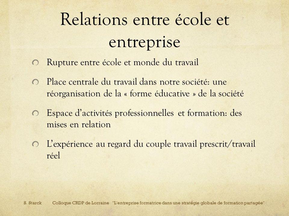Relations entre école et entreprise