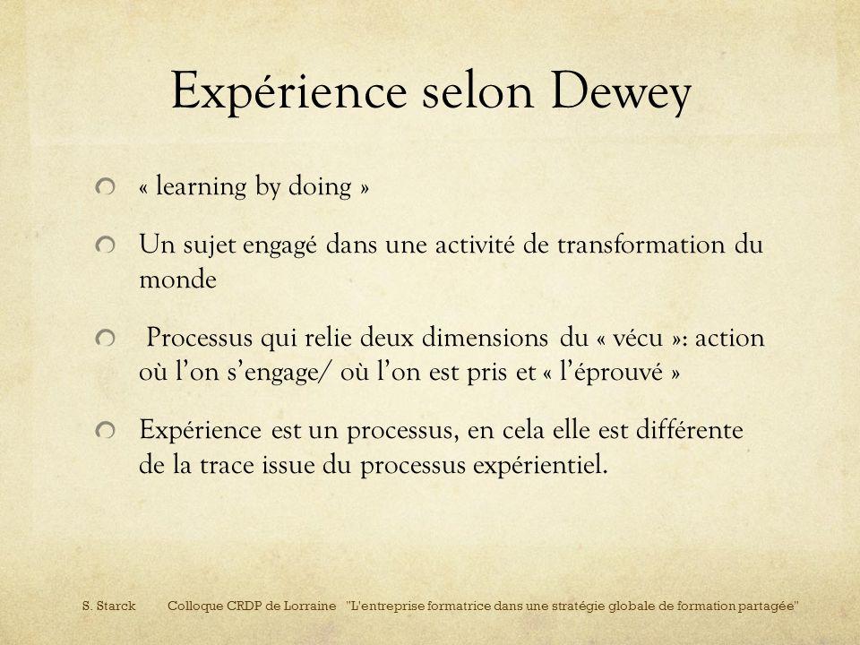 Expérience selon Dewey