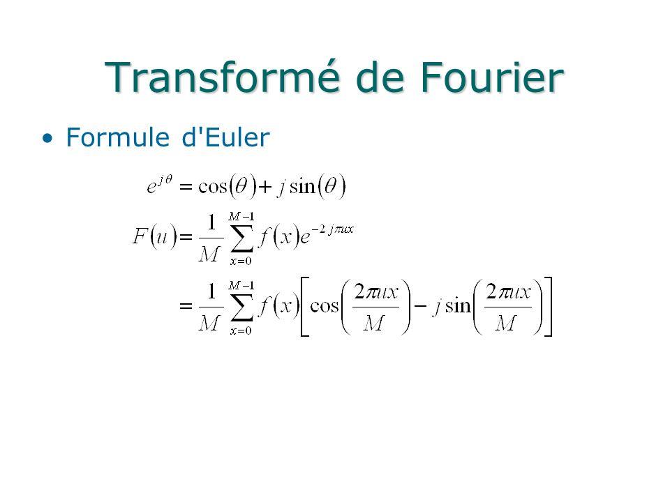 Transformé de Fourier Formule d Euler