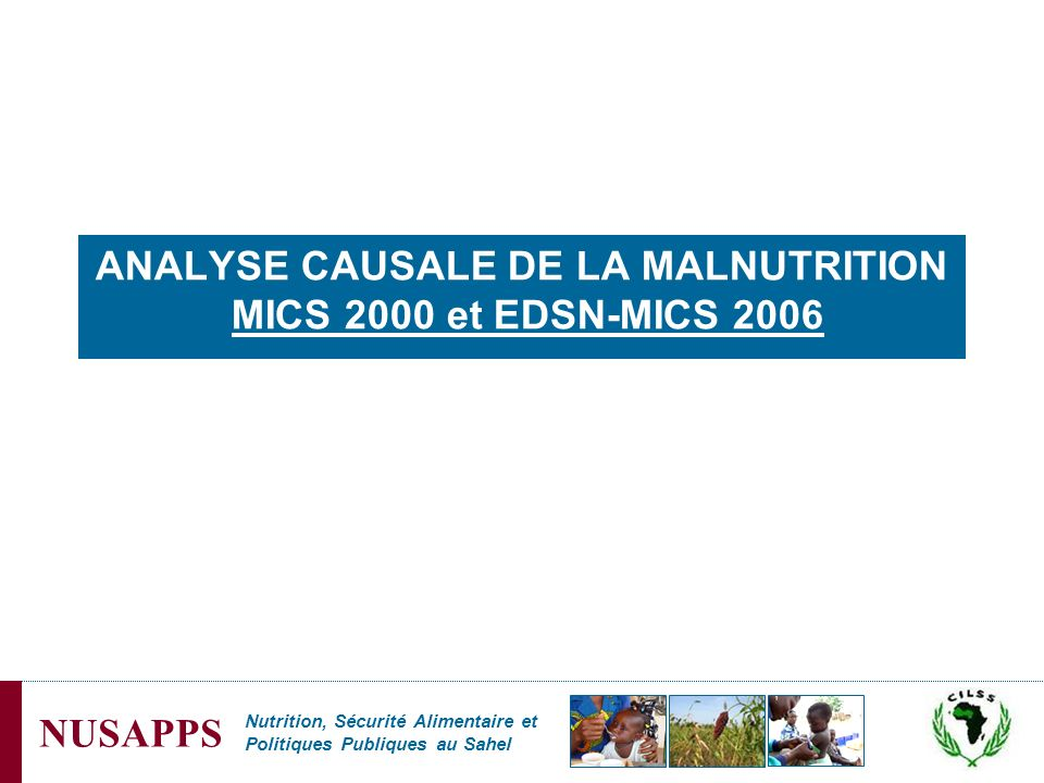 ANALYSE CAUSALE DE LA MALNUTRITION MICS 2000 et EDSN-MICS 2006