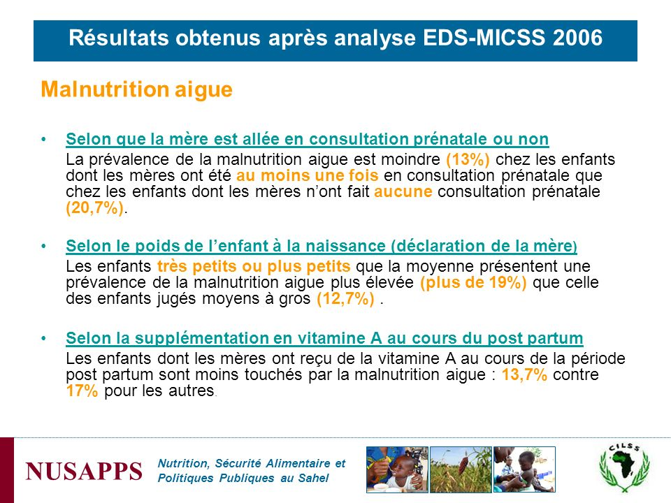 Résultats obtenus après analyse EDS-MICSS 2006