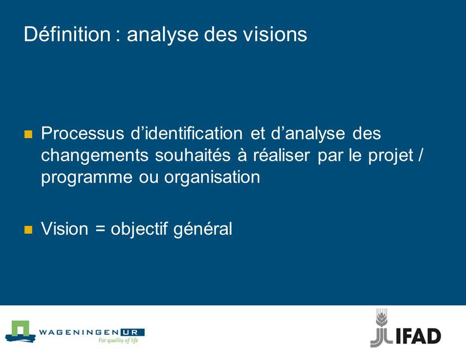 Définition : analyse des visions
