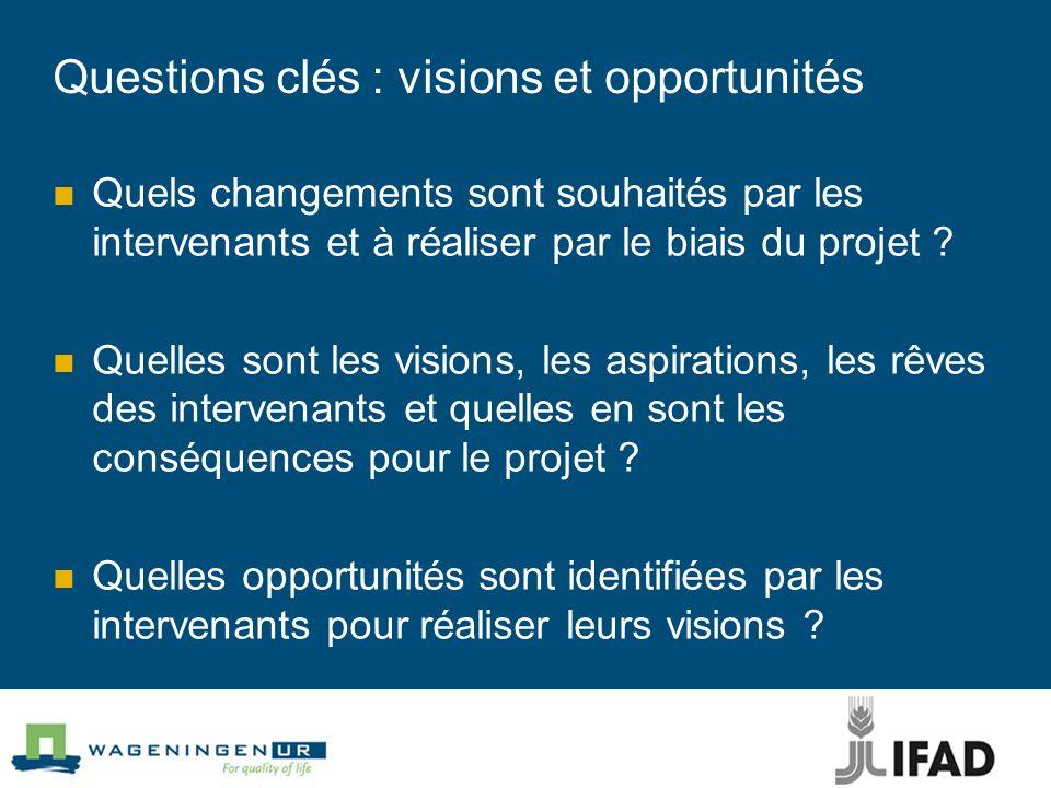 Questions clés : visions et opportunités