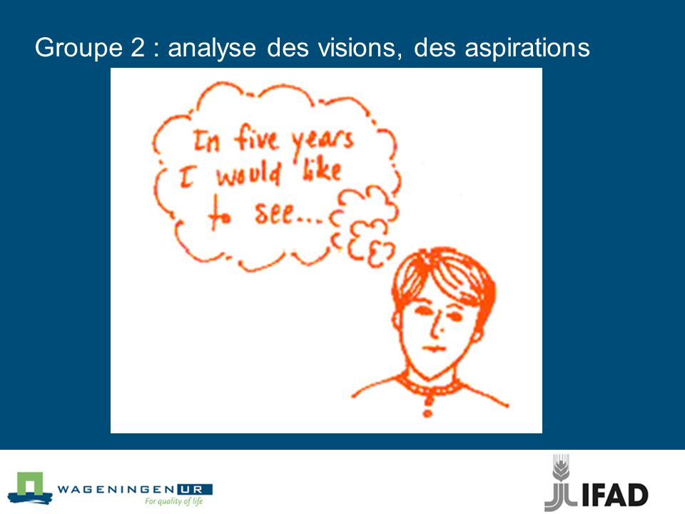 Groupe 2 : analyse des visions, des aspirations