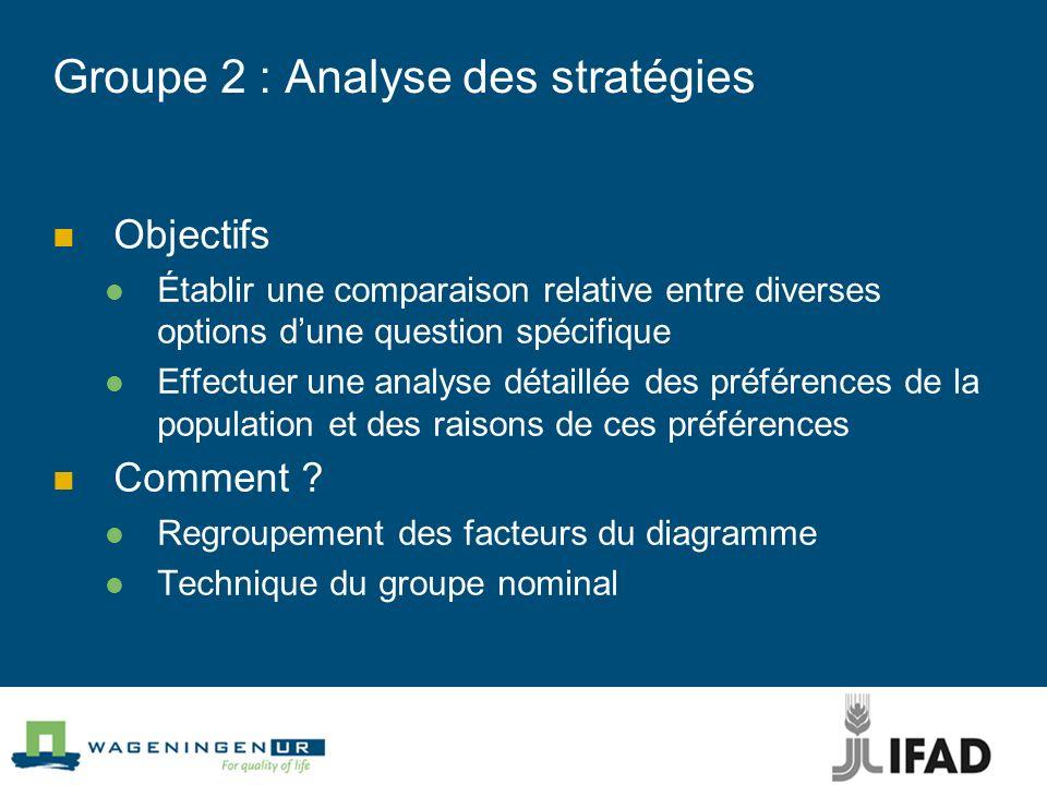 Groupe 2 : Analyse des stratégies