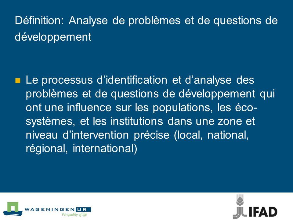 Définition: Analyse de problèmes et de questions de développement