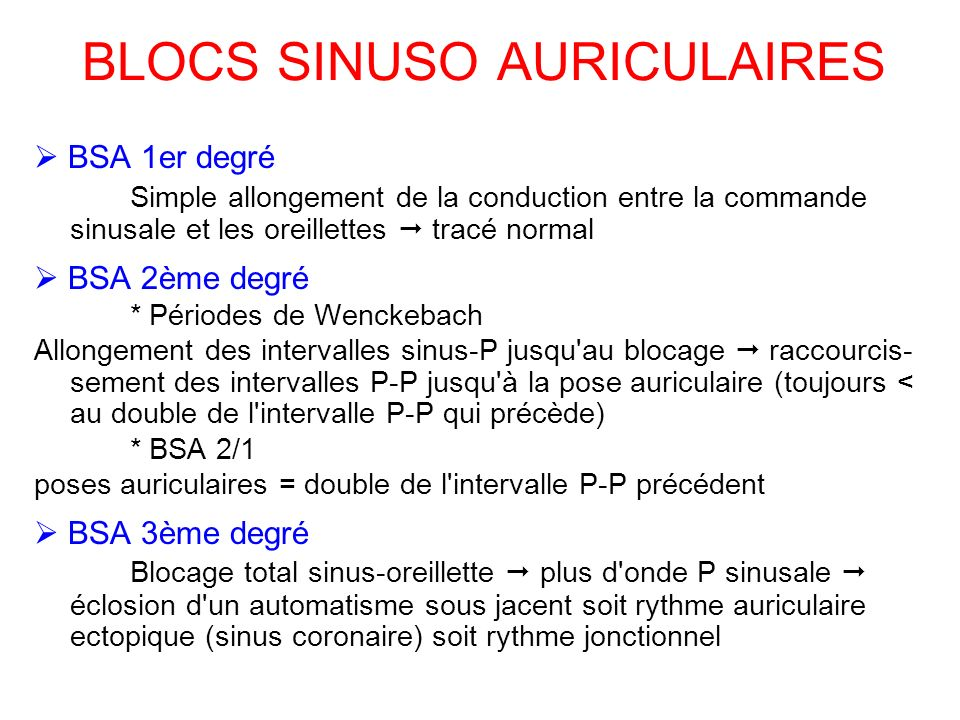 BLOCS SINUSO AURICULAIRES