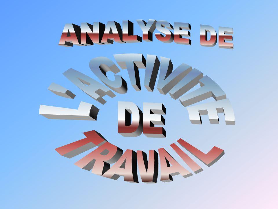 ANALYSE DE L ACTIVITE DE TRAVAIL