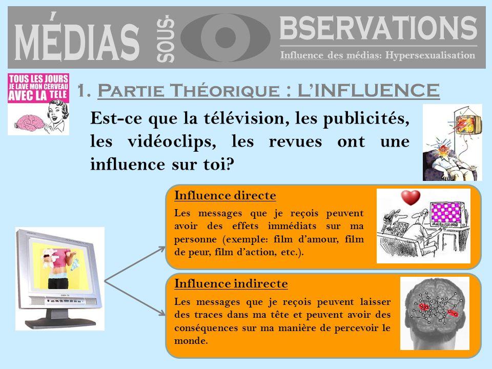 médias SOUS- bservations 1. Partie Théorique : L'INFLUENCE