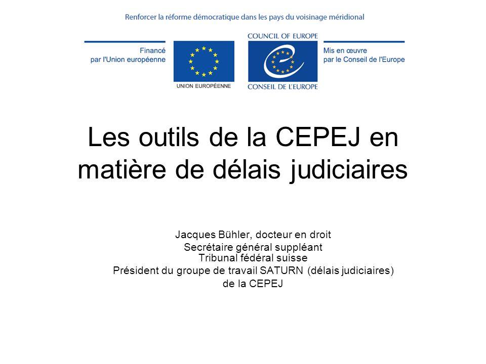 Les outils de la CEPEJ en matière de délais judiciaires