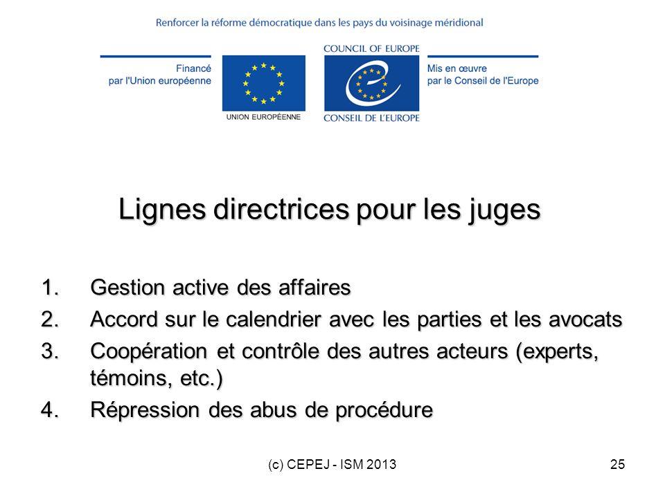 Lignes directrices pour les juges