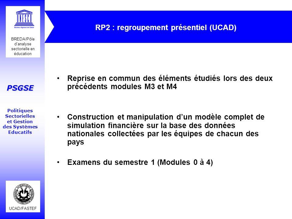RP2 : regroupement présentiel (UCAD)