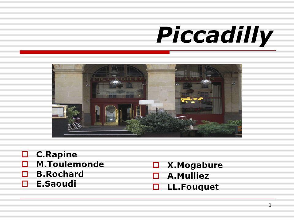 Piccadilly C.Rapine M.Toulemonde B.Rochard E.Saoudi X.Mogabure