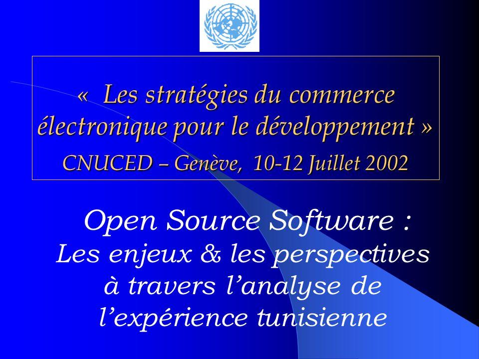 « Les stratégies du commerce électronique pour le développement » CNUCED – Genève, 10-12 Juillet 2002
