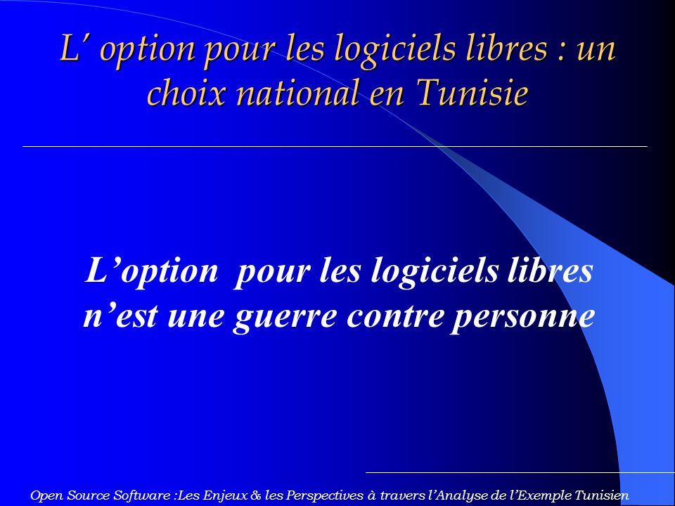 L' option pour les logiciels libres : un choix national en Tunisie