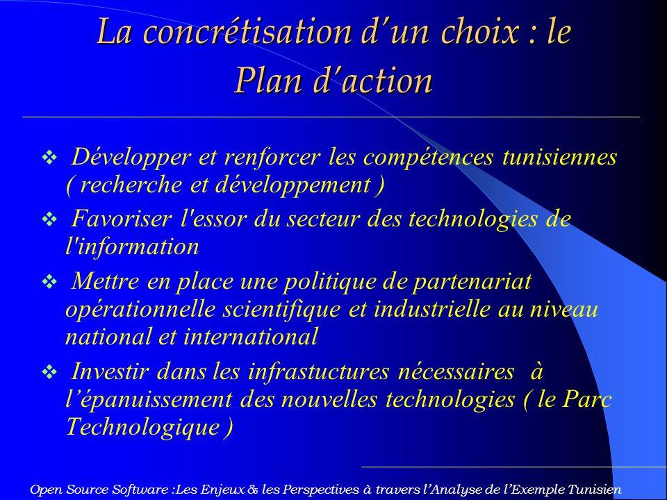 La concrétisation d'un choix : le Plan d'action